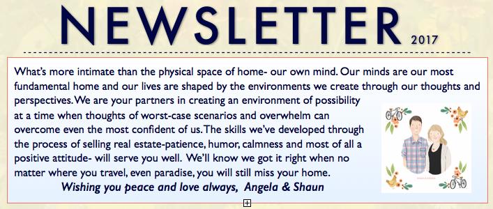Spring Newsletter ~ Staging, Not so hidden cameras, Urban Garden & Farm Tour and more…